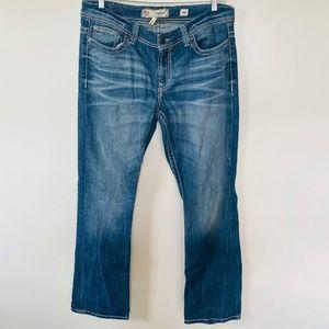 BKE Size 34 Long Payton Bootcut Buckle Denim Blue